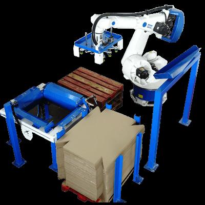 robot formadora de cajas