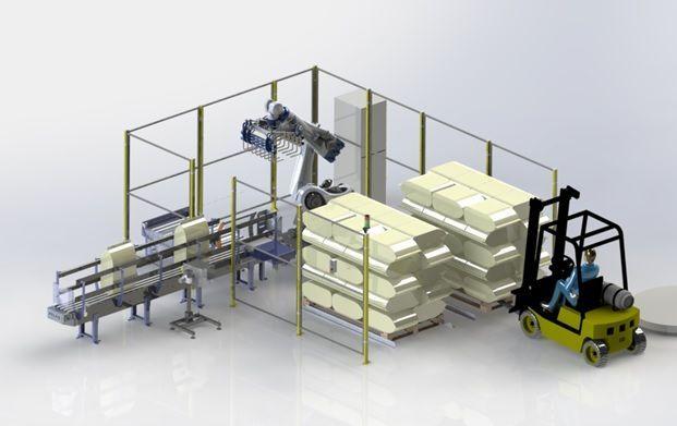 robot paletizador de sacos de pienso