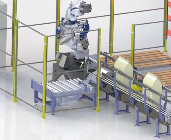 Robot paletizador de sacos pienso