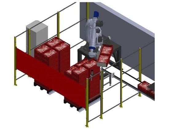 robot despaletizador cajas carne