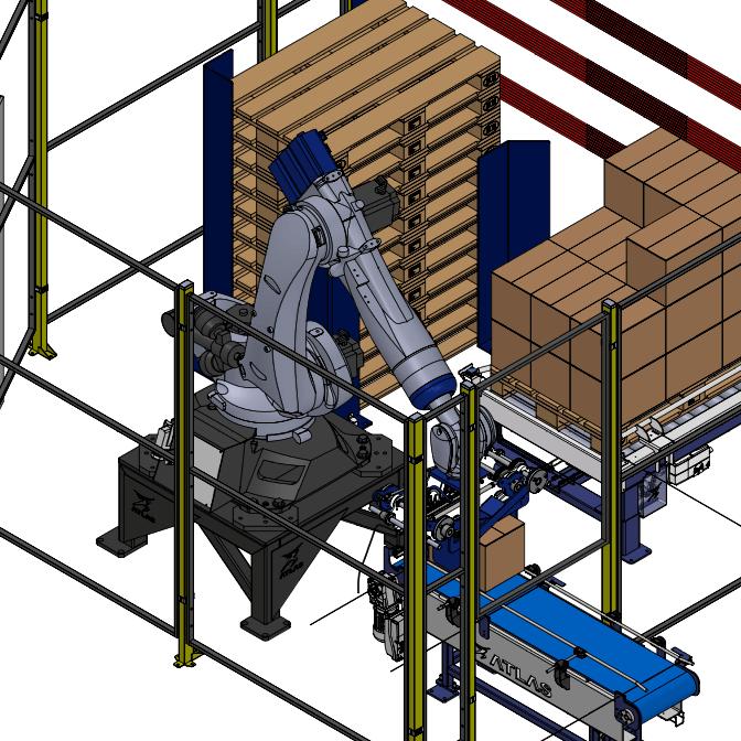 paletizador de cajas robotico