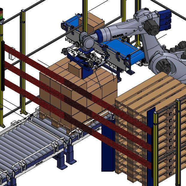 paletizado de cajas brazo robotico