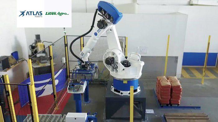 Robot paletizador de cajas y sacos – Livenagro