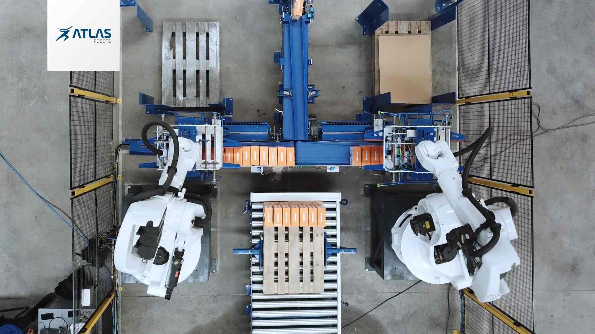 Paletizado de cajas por robot