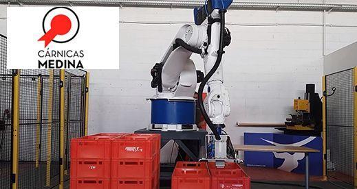 Robot Despaletizador de cajas de carne – Cárnicas Medina