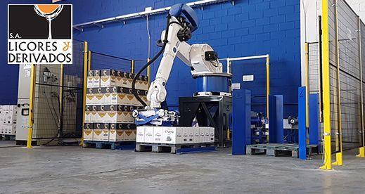 Robot Paletizador de cajas de botellas – Licores y Derivados