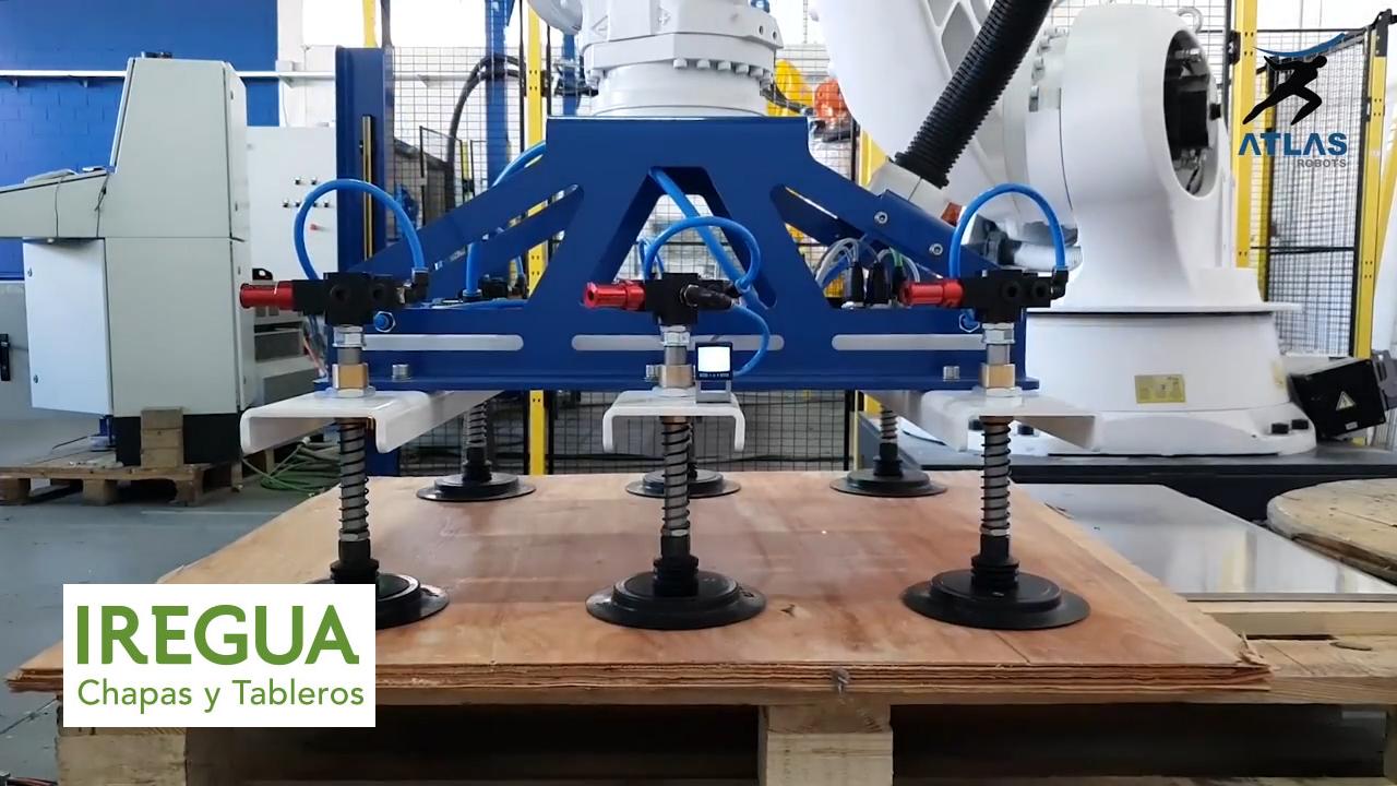 robot paletizador tableros de madera