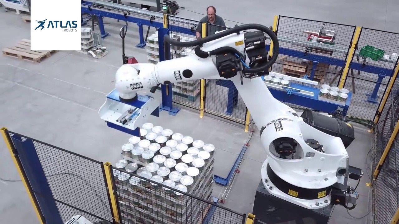Robot paletizador de cajas – Champiñones Megías