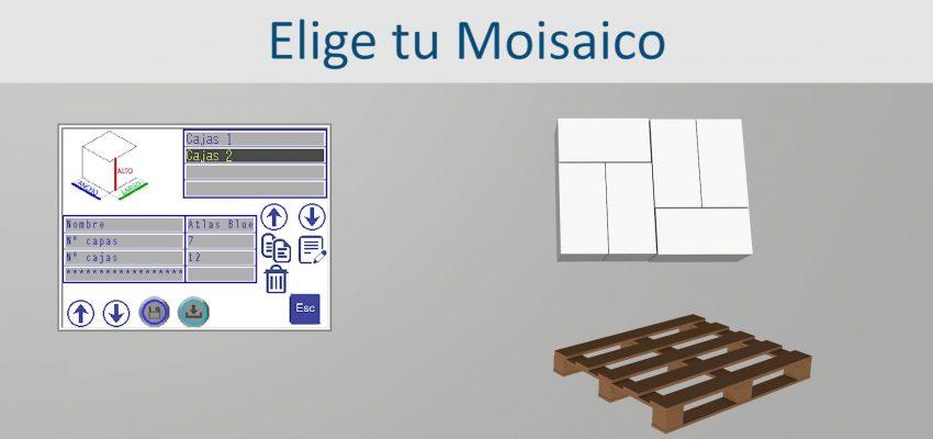 elige tu mosaico para configurar el paletizado