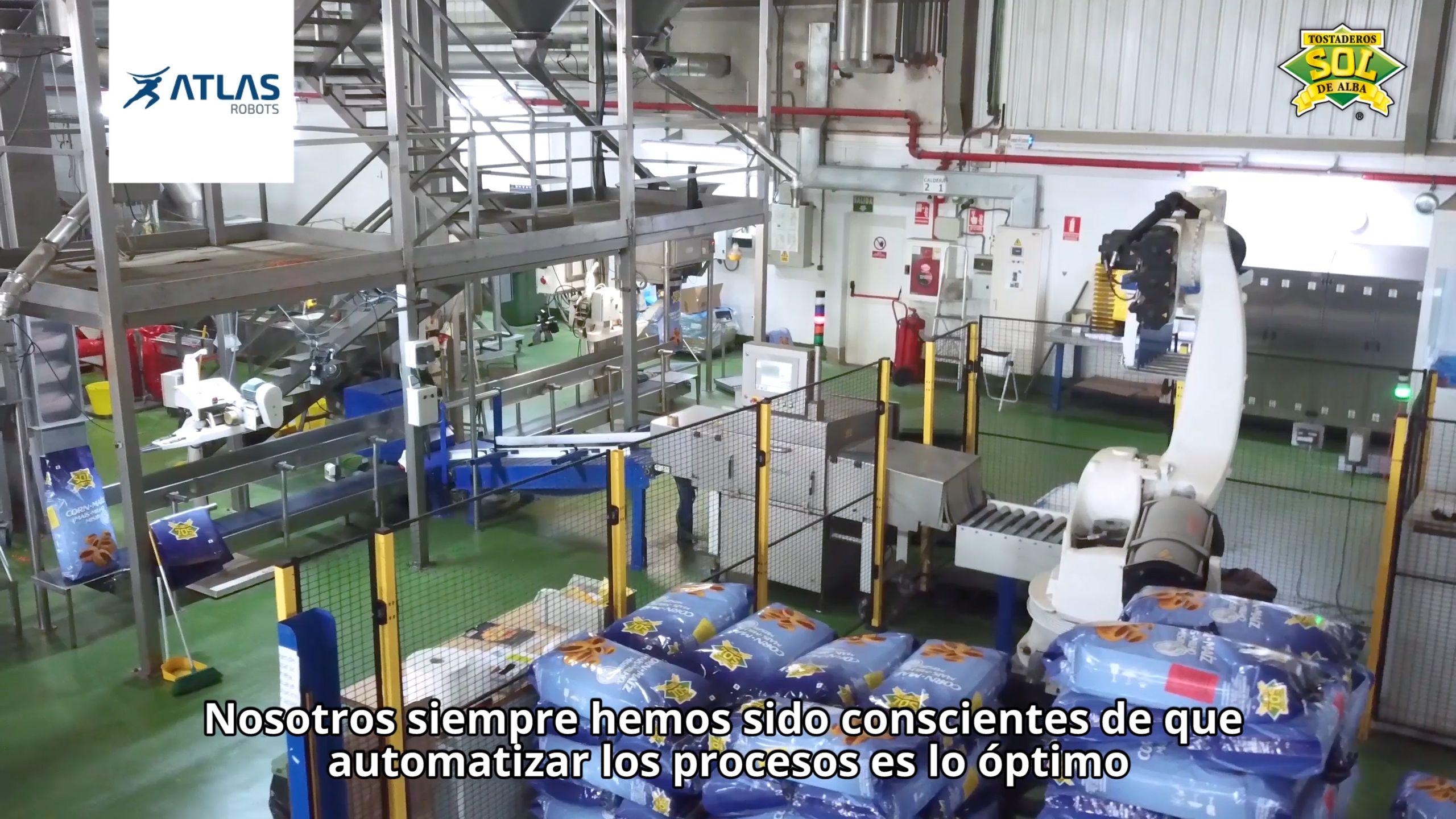 Robot Paletizador de sacos y cajas – Sol de Alba
