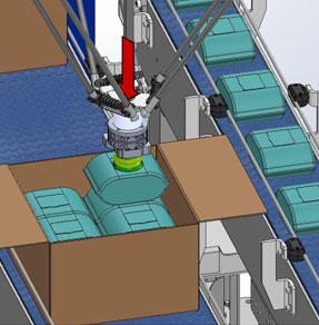 robot envasado de alta velocidad por sistema de suscción
