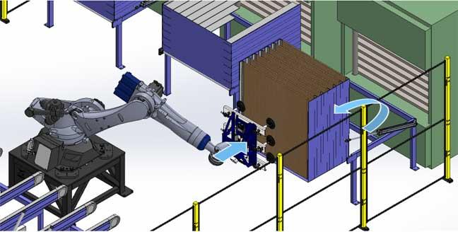 Los actuadores cambian la posición de las bandejas de madera