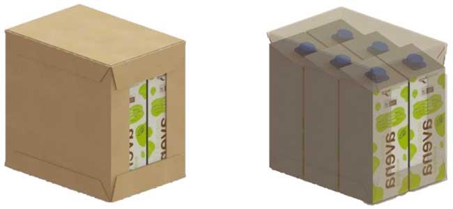 Ejemplo de cajas a paletizar por el robot