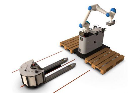 robot colaborativo sobre plataforma móvil capaz de paletizar cajas