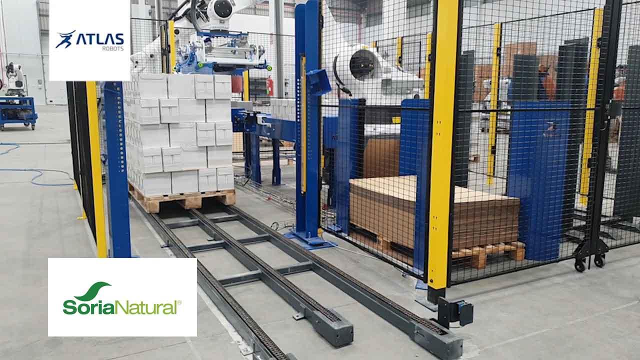 Robot paletizador de cajas – Soria Natural