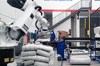 Paletizador de sacos automático