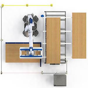robot paletizador de tableros