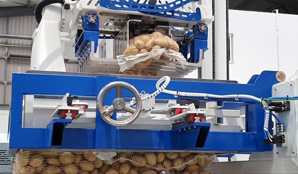 Los desafíos de diseñar un paletizador de patatas robótico